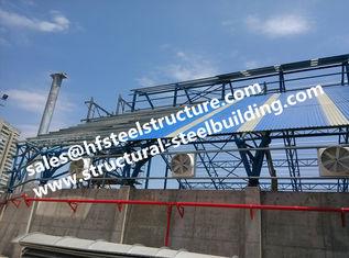 중국 구조 강철 창고 건설사업을 위해 지붕을 다는 날조된 산업 강철 빌딩 구조 층계 협력 업체