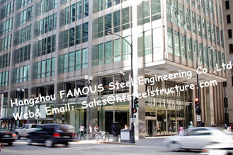 Q345B 상업적인 강철 건축 계획 디자인 및 구조의 쉬운 임명