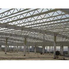 중국 용접한/열간압연 H 광속을 가진 Q345 강철 구조물/V 버팀대 금속 트러스 건물 협력 업체
