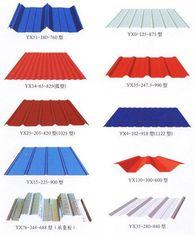중국 색깔 강철 구조물을 위한 Customzied가 입히는 금속 루핑에 의하여 시트를 깝니다 협력 업체