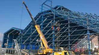 그려지는 움직일 수 있는 산업 강철 건물 제작 내화성