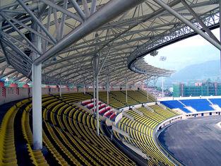 중국 강관 트러스에 의하여 채택되는 강철 구조물 제작 큰 경간 경기장 협력 업체