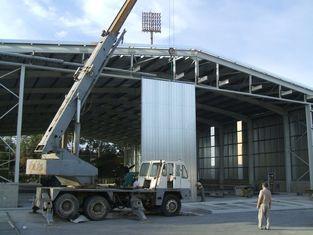 중국 예약된 전 설계된 강철 항공기 격납고 똑바른 란 강철 협력 업체