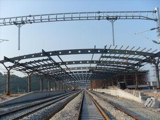 중국 철도역 구조상 금속 트러스 건물, 2-4개의 층을 가진 녹슬지 않는 회화 협력 업체