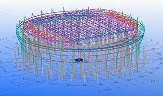 중국 공장, 창고 및 전시실을 위한 주문 강철 구조상 기술 설계 협력 업체