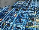 중국 주문을 받아서 만들어진 조립식으로 만들어진 관 금속 트러스 건물 정면 관람석 및 스포츠 경기장 공장