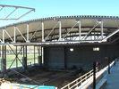 중국 혁신적인 반은 아크 모양 지붕 격판덮개의 밑에 구조 강철 제작 작업장을 중단했습니다 공장