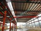 중국 프로젝트 ASTM 기준을 채광하는 전 설계된 95채의 x 150채의 산업 강철 건물 공장