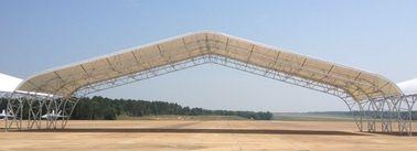 큰 경간을 가진 조립식으로 만들어진 강철 평화로운 트러스 항공기 격납고 건물
