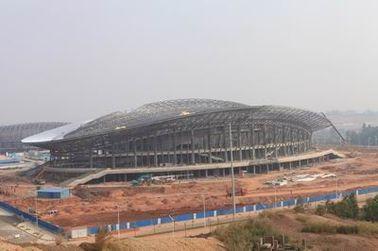 OEM 강철 구조물, 조립식으로 만들어진 관 금속 트러스 건물 및 스포츠 경기장
