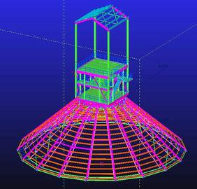 , 방수의 직류 전기를 통하는, 주문 뜨거운 복각 조립식으로 만들어진 강철 구조상 기술 설계