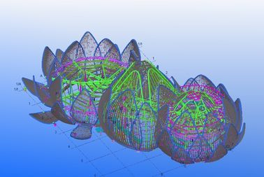 용접, 및 조립식으로 만들어진 산업 강철 구조상 기술 설계 제동