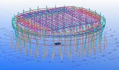 공장, 창고 및 전시실을 위한 주문 강철 구조상 기술 설계