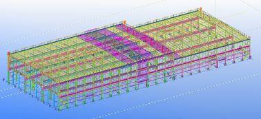 전 설계된 조립식으로 만들어진 강철 상업적인 구조상 기술 설계